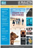 Bulletin vid�o Documentaire et Hors film - Juin 2015