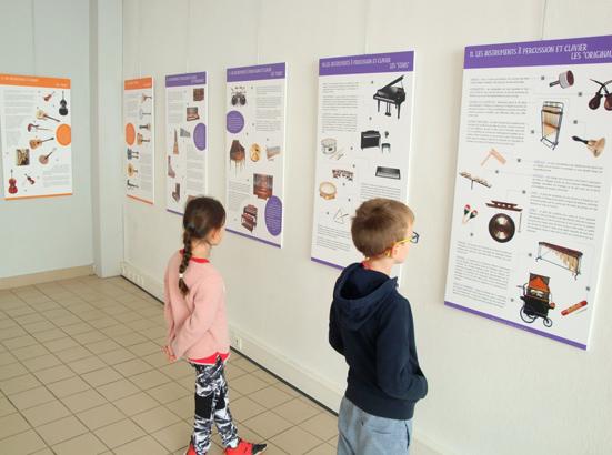 L'exposition de RDM consacrée aux instruments de musique à la médiathèque de Cendras (30)