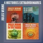 CD 4 Histoires extraordinaires de Jules Verne, de Michel Galabru, Bernard Belin, Marcel Lestan...