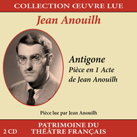 jaquette CD Collection oeuvre lue - Jean Anouilh : Antigone