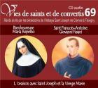 Vies de saints et de convertis t.69 - bienheureuse maria repetto - saint françois antoine giovanni fasani - l'oraison avec saint joseph et la vierge marie