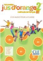 Méthode jus d'orange t.2 - fle - niveau a1 - 2 cds audio pour la classe (édition 2020)