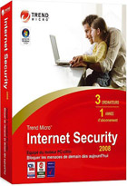 Trend micro Internet security 2008 - 1 an - 3 PC