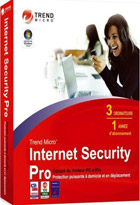 Trend micro Internet security PRO  2008 - 1 an - 3 PC