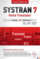jaquette CD-rom Systran 7 Home Translator - Pack Europe