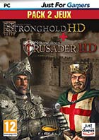 jaquette CD-rom Stronghold HD + Stronghold crusader HD