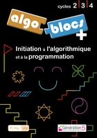 jaquette CD-rom Algoblocs + (cycles 2, 3, 4)