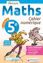 Cahier numérique iParcours Maths - 5ème Cycle 4 - Enseignant et élève - Monoposte (éd. 2019)