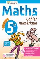 Cahier numérique iParcours Maths - 5ème Cycle 4 - Enseignant et élève - Clé USB (éd. 2019)