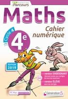 Cahier numérique iParcours Maths - 4ème Cycle 4 - Enseignant et élève - Monoposte (éd. 2019)