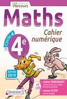 Cahier numérique iParcours Maths - 4ème Cycle 4 - Enseignant et élève - Clé USB (éd. 2019)