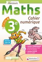 Cahier numérique iParcours Maths - 3ème Cycle 4 - Enseignant et élève - Monoposte (éd. 2019)