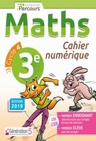 Cahier numérique iParcours Maths - 3ème Cycle 4 - Enseignant et élève - Clé USB (éd. 2019)