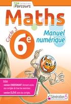 Manuel numérique iParcours Maths - 6ème Cycle 3 - Enseignant et élève - Clé USB (éd. 2016)