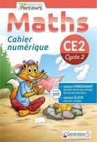 Cahier numérique iParcours Maths - CE2 Cycle 2 - Enseignant et élève - Site (éd. 2018)