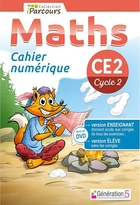 Cahier numérique iParcours Maths - CE2 Cycle 2 - Enseignant et élève - Clé USB (éd. 2018)