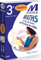 M comme Maths - Algèbre 3ème - Licence plus de 1200 postes