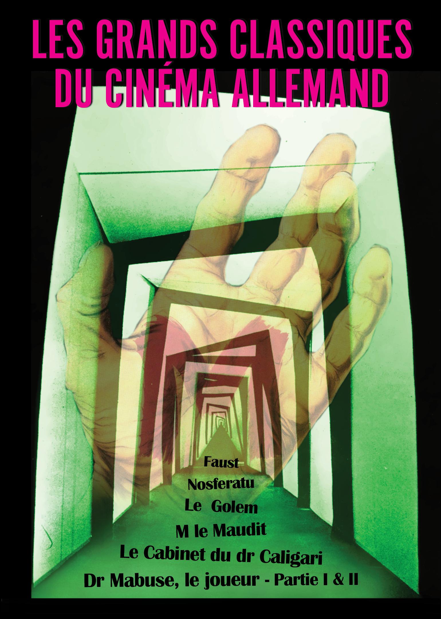 Achat DVD Grands Classiques du cin�ma allemand (Les) - 7 films - Der Golem + Le Cabinet du docteur Caligari + Dr. Mabuse le joueur (Parties I et II) + Nosferatu + Faust + M le Maudit