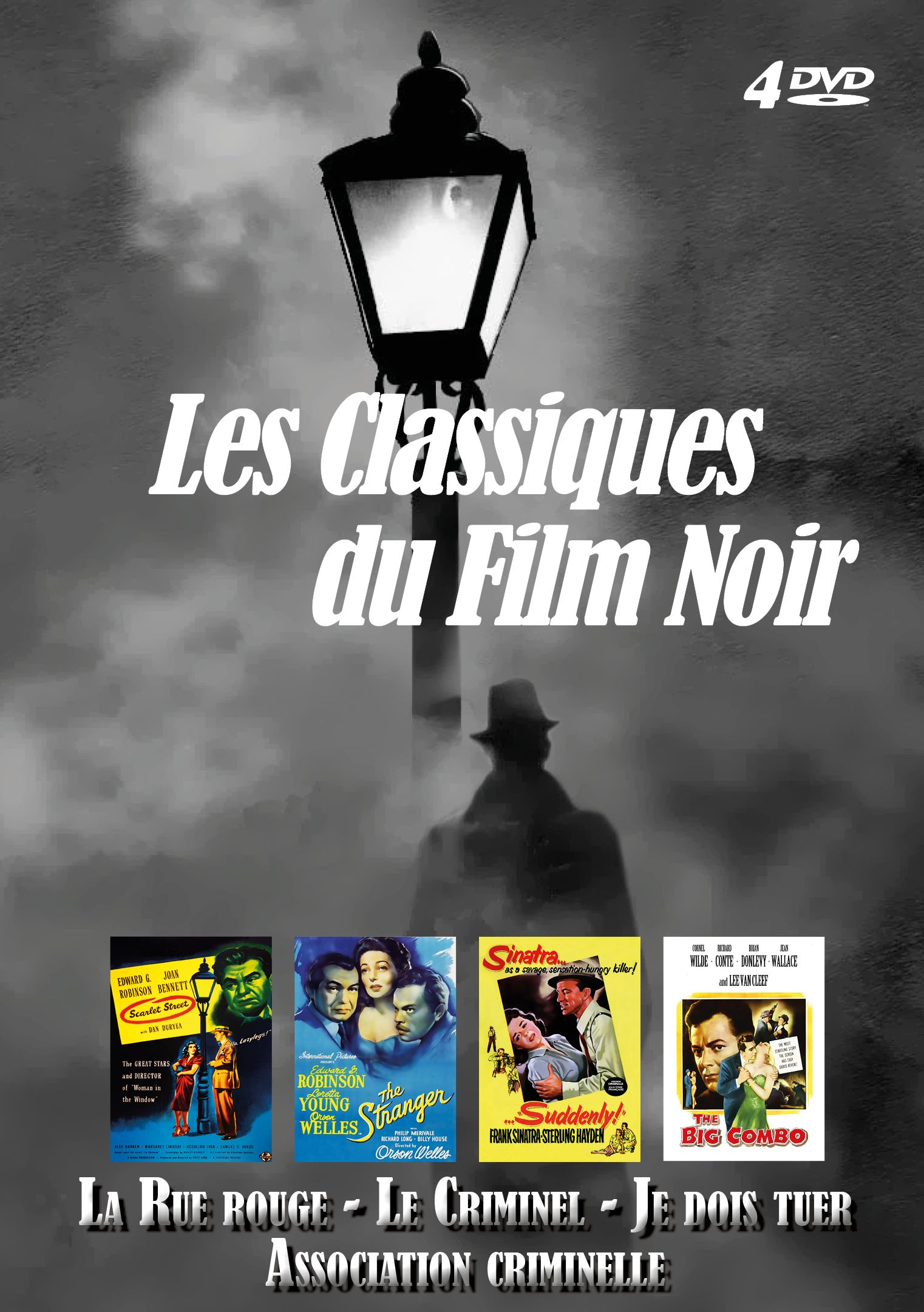 DVD Classiques du Film Noir (Les) - La Rue rouge + Le Criminel + Je dois tuer + Association criminelle (Coffret 4DVD)