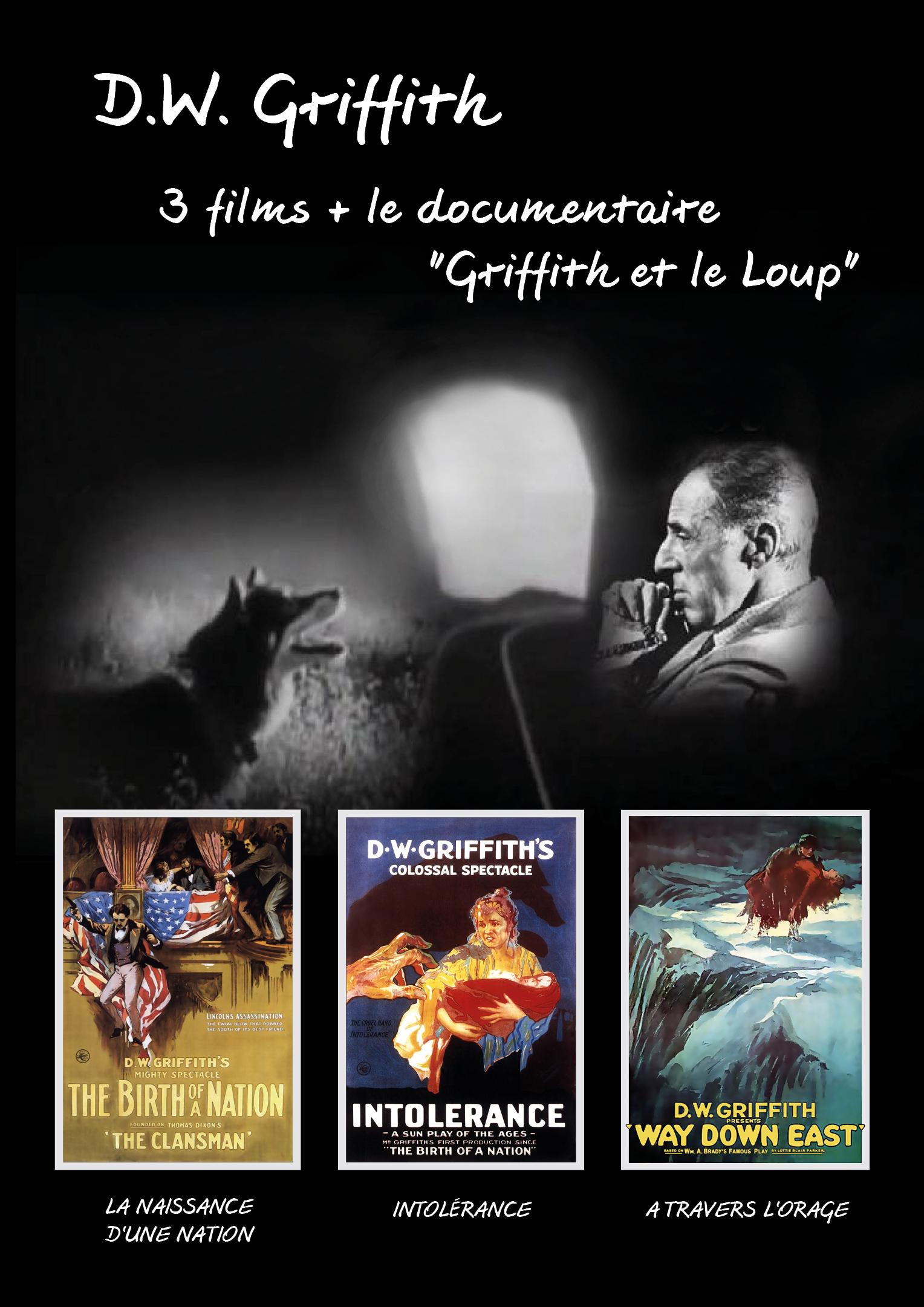 Achat DVD Coffret D.W. Griffith - 3 films + le documentaire  - La Naissance d'une nation + Intol�rance + A travers l'orage + Griffith et le loup