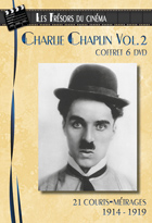 Achat DVD Charlie Chaplin - Coffret 6 DVD : 21 courts-m�trages (1914-1919)