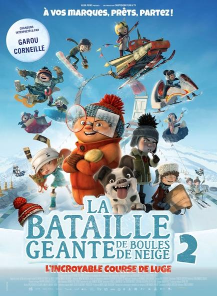 La Bataille géante de boules de neige 2 : L'incroyable course de luge / Film d'animation de Benoit Godbout et François Brisson | Godbout, Benoit. Metteur en scène ou réalisateur