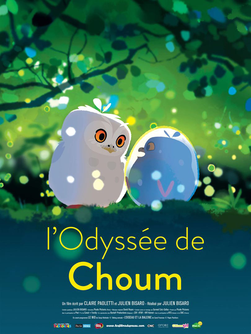L'Odyssée de Choum = Nest / The Bird and the Whale / Julien Bisaro, Sonja Rohleder, Carol Freeman, réalisation  | Paoletti, Claire. Scénariste