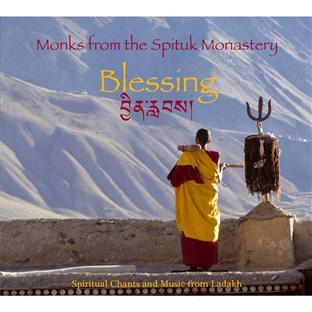 Monks from the Spituk monastery : blessing