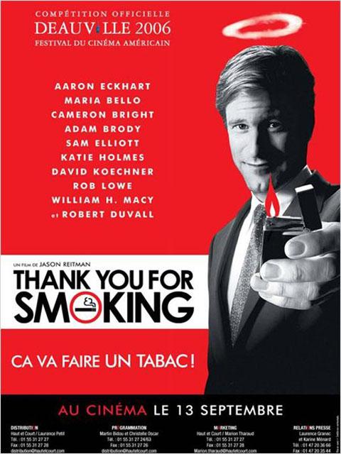 Thank you for smoking = Thank you for smoking   Reitman, Jason. Monteur