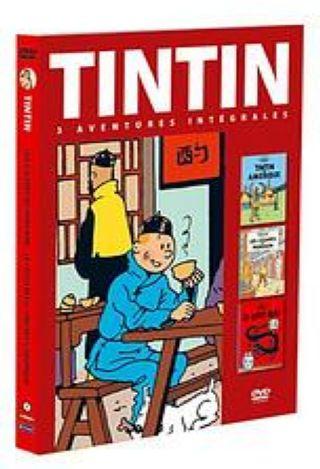 Tintin : 3 Aventures intégrales. Tintin en Amérique. Les Cigares du pharaon. Le Lotus Bleu. DVD. Volume 1 / Stéphane Bernasconi, réal. |