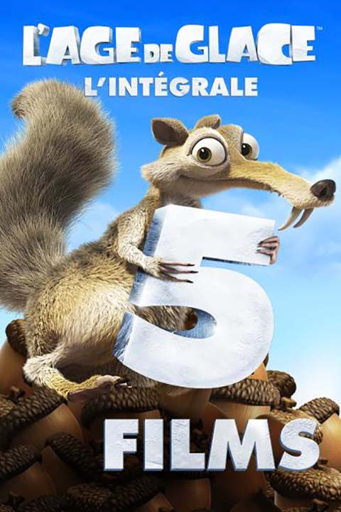 Age de glace - L'intégrale (L') : 1 à 5 = Ice Age + Ice Age 2: The Meltdown + Ice Age: Dawn of the Dinosaurs + Ice Age : Continental Drift + Ice Age: Collision Course |