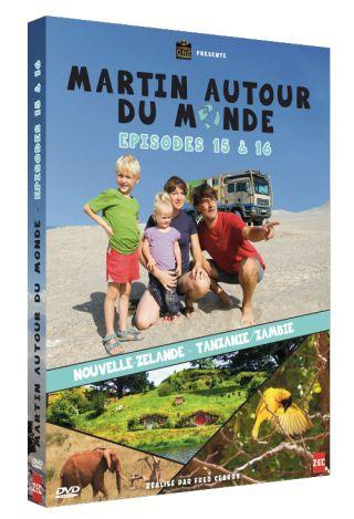 Martin autour du monde, épisodes 15 et 16  : Nouvelle-Zélande, Tanzanie, Zambie